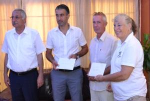 Mayor Nidai Gungordu. Ahmet Akarsu, Stephen Everett, Margaret Ray