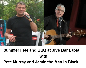 Pete Murray and Jamie the Man in Black