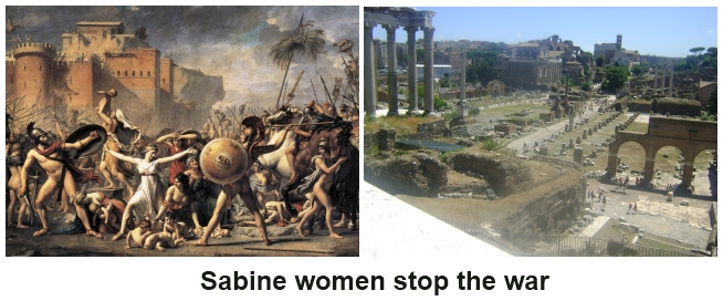 Sabine women stop the war.