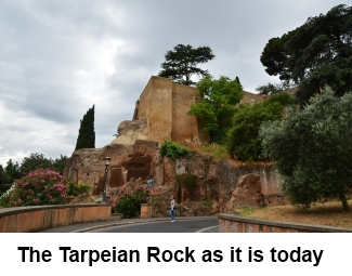 The Tarpeian Rock as it is today image