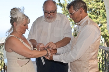 Tying the knot picture courtesy of Jean Clark image