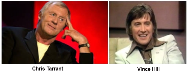 Chris Tarrant and Vince Hill