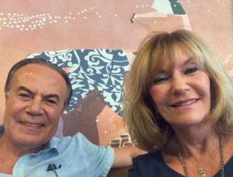 Mehmet and Debbie enjoy a visit to Starbucks in the Republic of Cyprus