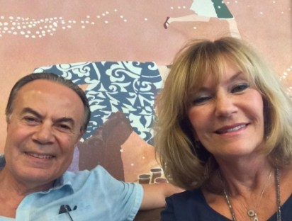 Mehmet and Debbie enjoy a visit to Starbucks in the Republic of Cyprus