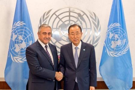 Mustafa Akinci and Ban Ki-Moon