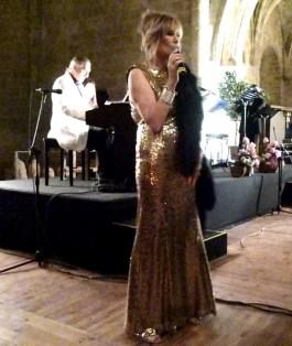 Demetra gold dress 2