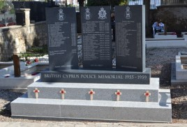 The Cyprus Police Memorial at the Old British Cemetery