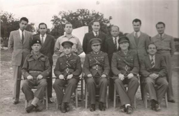 Faik Müftüzade (middle seated) Polymitya Camp 1946