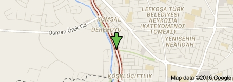 Dereboyu, Lefkosa - Map courtesy of Google Maps