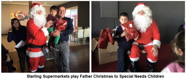 Starling Supermarket plays Santa picture