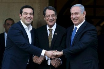 Anastasiades-Tsipras-Netanyahu