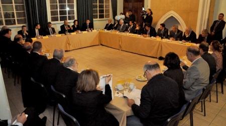 Martin Schulz met party political members