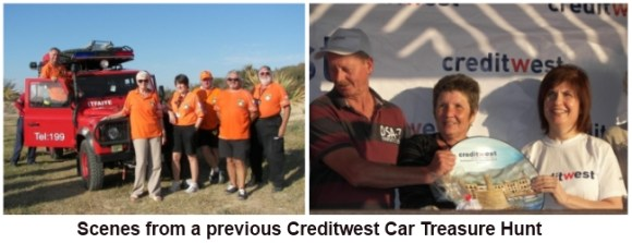 Scenes from a previous Creditwest Car Treasure Hunt