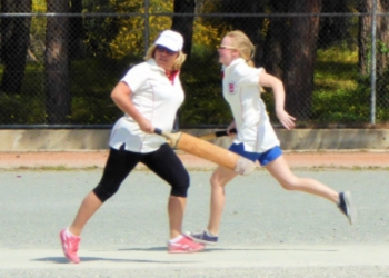 Kelsey Ace and Gina Mapp getting a quick run image
