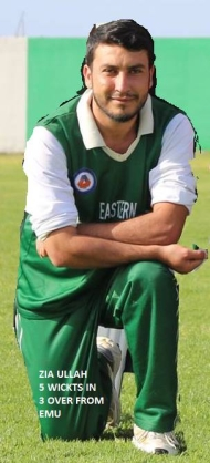 Zia Ullah, 5 wickets in 3 overs for Eastern Mediterranean University