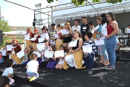 Children receive certificates