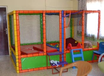 Indoor play ground presented by Demetra George from her 'Concert without Borders1 event in Lefkosa