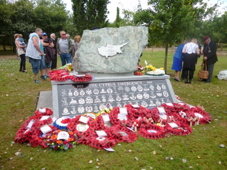 Cyprus Rock after wreath laying