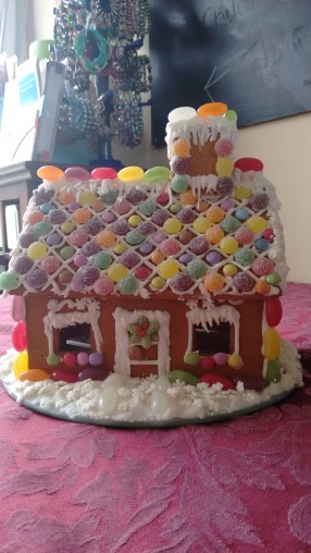 Carole's gingerbread house