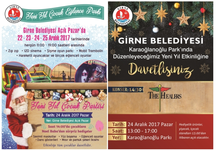 Girne Municipalitys New Year Events From 22nd To 25th December 2017