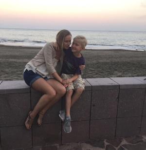 Yuliya and Ales on holiday
