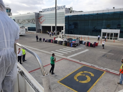 Expat flight arrived at Ercan