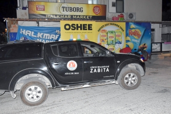 Girne Zabita patrolling Girne harbour area (7)