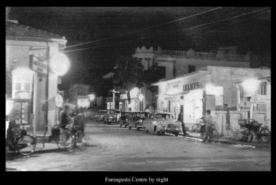 Famagusta Centre at night