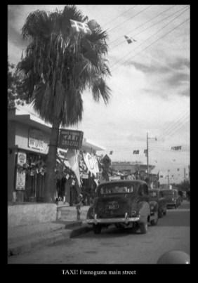 TAXI - in main Famagusta street