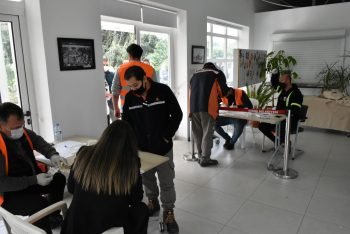 Girne Municipality vaccinate and give PCR tests to many people