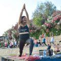 Yoga at sunset on Kervansaray public beach (5)