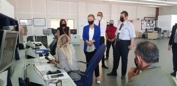 TRNC Minister inspection of Ercan airport srvices (2)