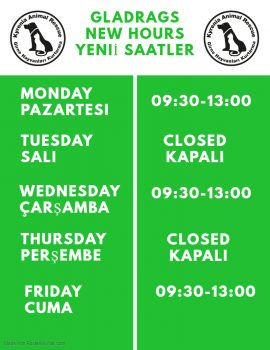 KAR GLADRAGS NEW OPENING HOURS Hours