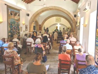 The congregation at St Andrews Church, Kyrenia