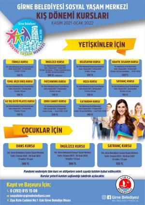 Girne Municipality winter education courses (2)