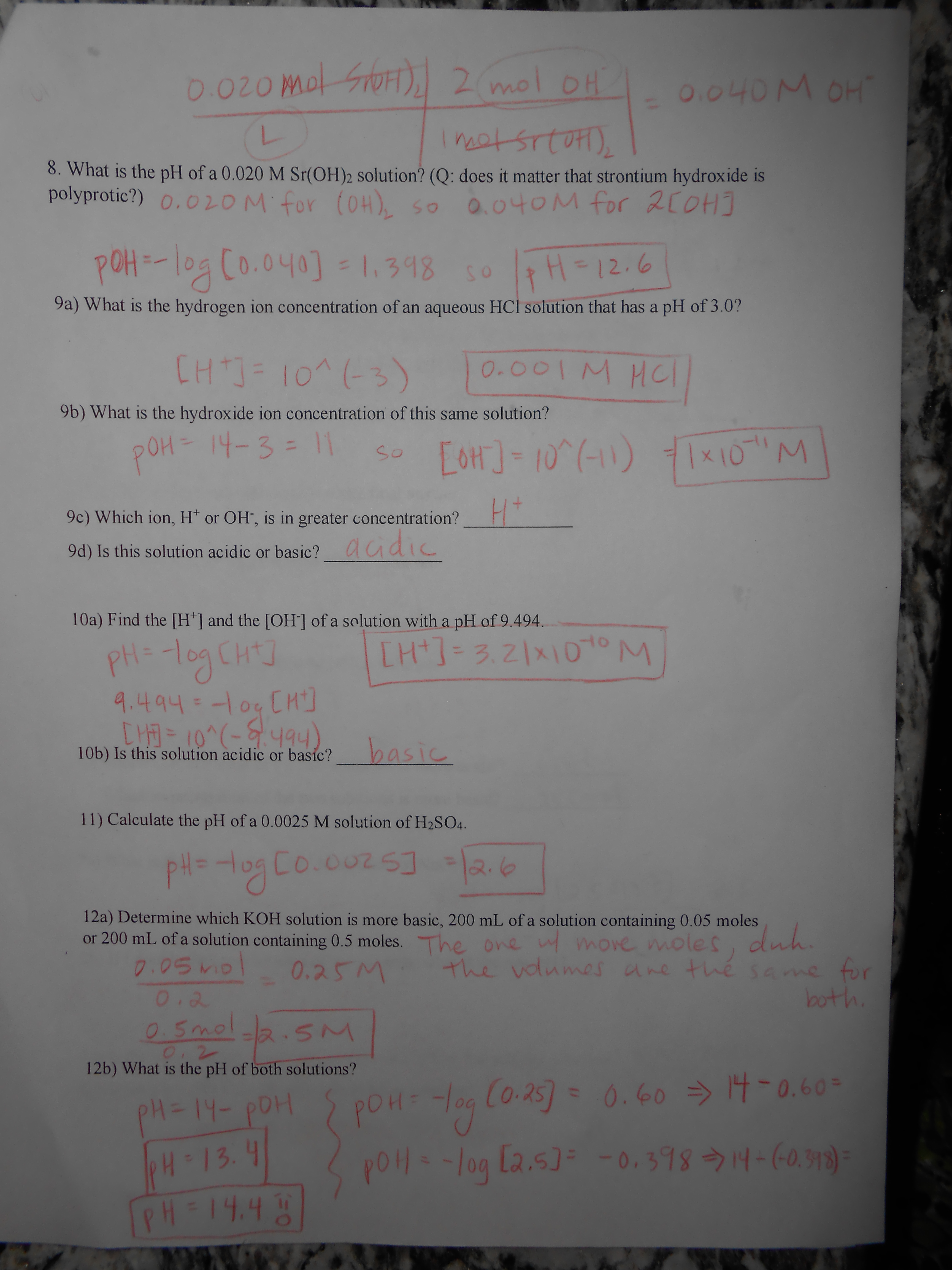 Worksheets And Answer Keys