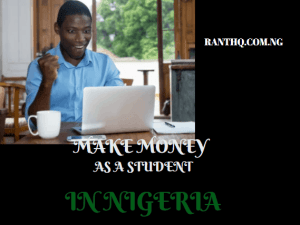 TOP 10 ONLINE JOBS FOR NIGERIAN STUDENTS IN 2020