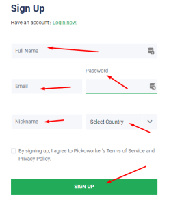 picoworkers signup data