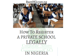 How To Register A Private School Name In Nigeria 2020