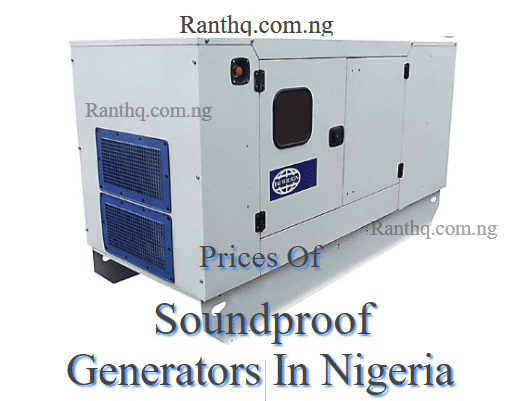 soundproof generators and prices in nigeria