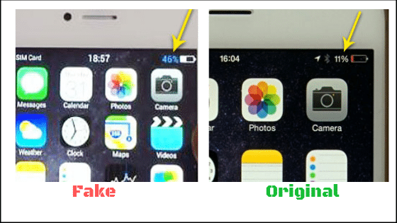 how to check fake iPhone