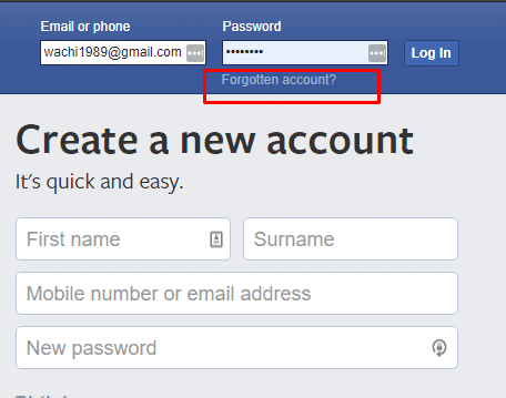 forgot facebook password (2)