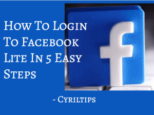 How To Login To Facebook Lite In 5 Easy Steps (2020) | Facebook Lite Signup
