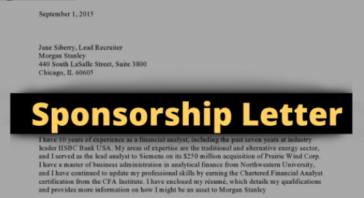 How To Write A Sponsorship Letter For Visa Application With Free Samples