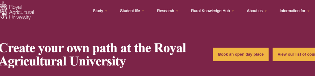 royal agriculture university homepage