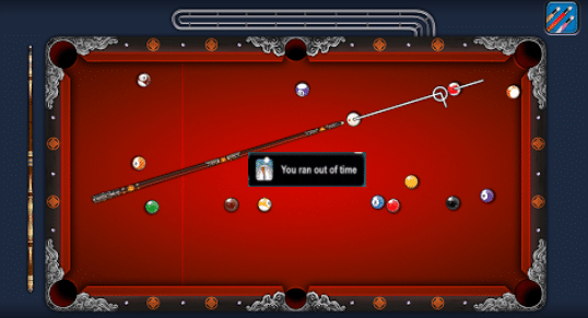 you ran out of time in 8 ball pool hack