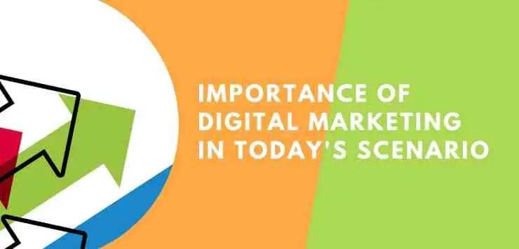 importance of digital marketing in today's scenario