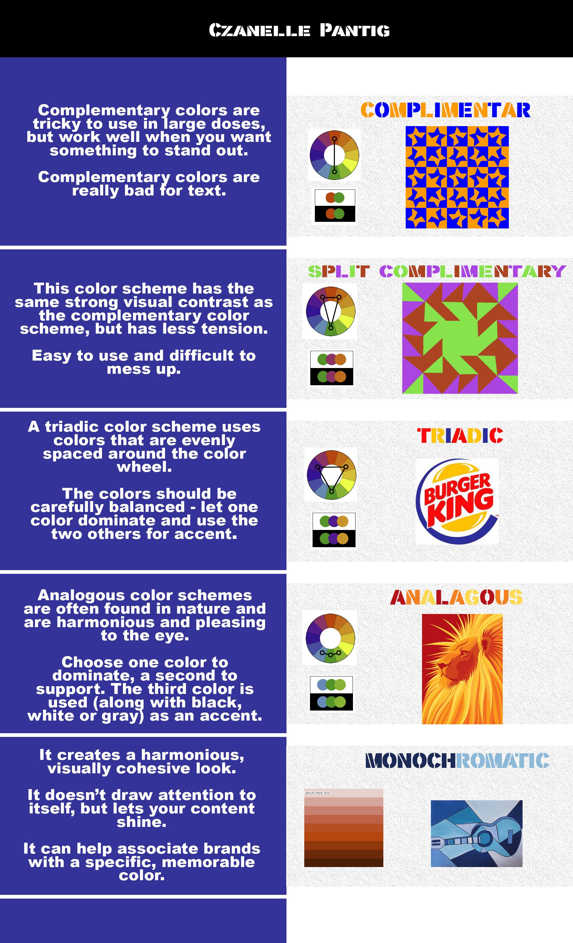 Colour Scheme Worksheet