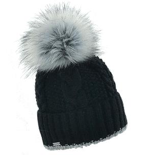 czapka-welniana-z-pomponem-czarna
