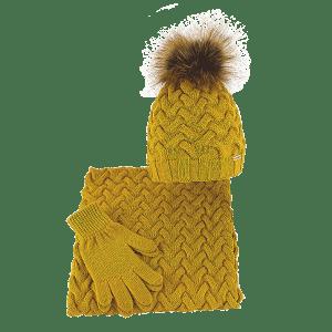 komplet-w-warkocze-czapka-komin-rekawiczki-miod